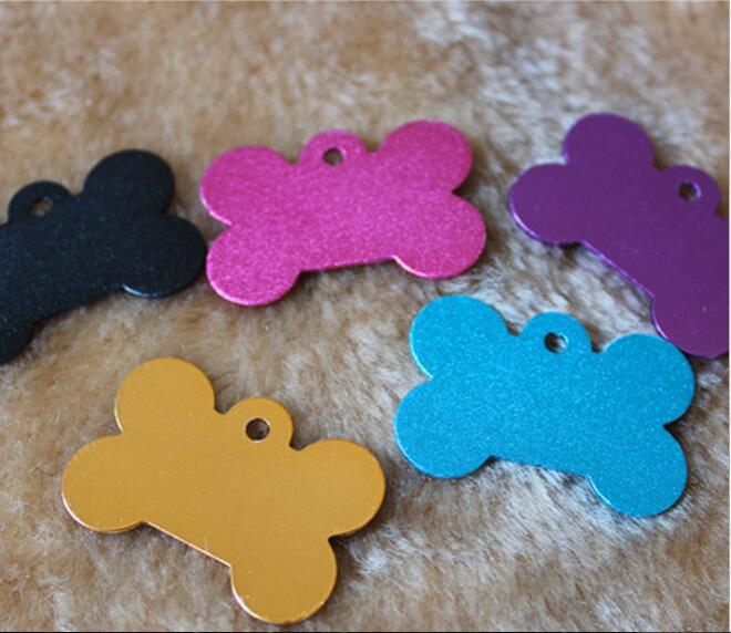 New 2015 2 PCS Pet Tags ID Custom ID Tags Double Sided Pet Dog Cat Charm Aluminium Tag(China (Mainland))