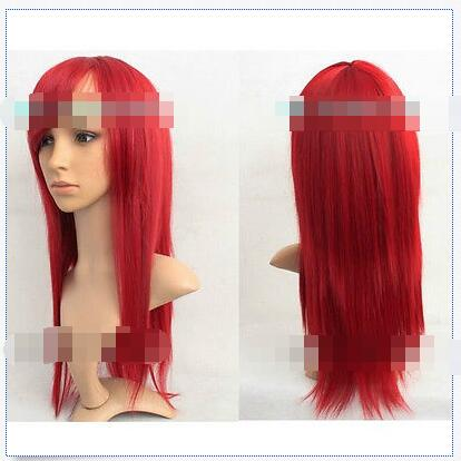 Wholesale heat resistant LY free shipping New Long Dark Red Fashion Cosplay Party font b Wig
