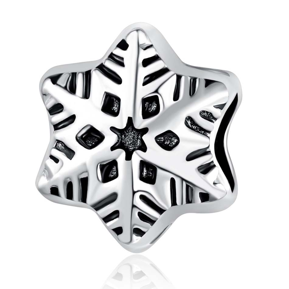 New Silver Plated Animal Bead Charm Snow Flake Crystal Beads Fit Women Pandora Bracelet Bangle DIY Jewelry(China (Mainland))