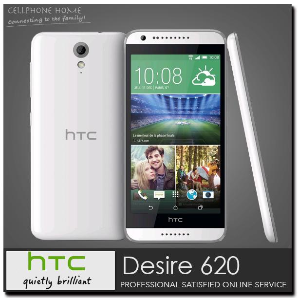 Original HTC Desire 620 Unlocked Quad-Core 1GB RAM 8GB ROM 5.0'' inch 8MP Android OS 4.4 WIFI Dual SIM Mobile Phones Refurbished(China (Mainland))