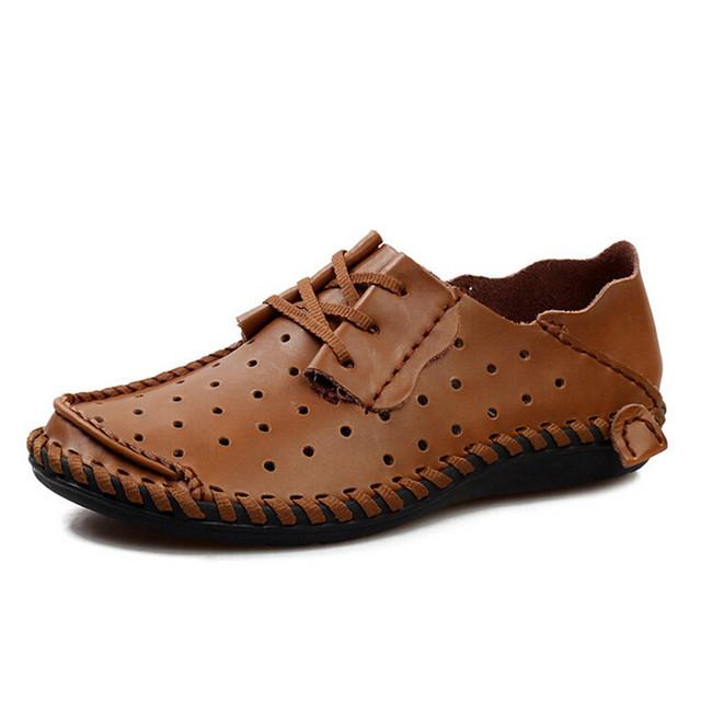 Мужчины кожаные ботинки свободного покроя 2016 весна / лето мода для мужчин дизайнер ...