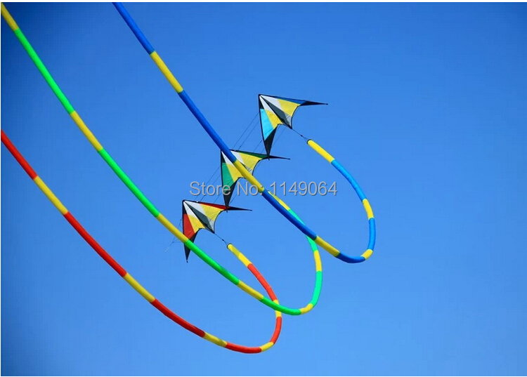 free shipping high quality 32m 3D kites tails various colors choose power kite surf outdoor toys flying hcxkite factory(China (Mainland))