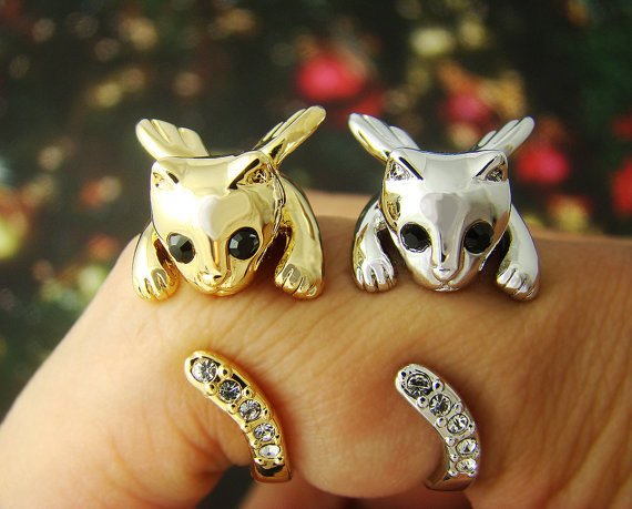 Cat Ring Angel Kitty Wing Ring