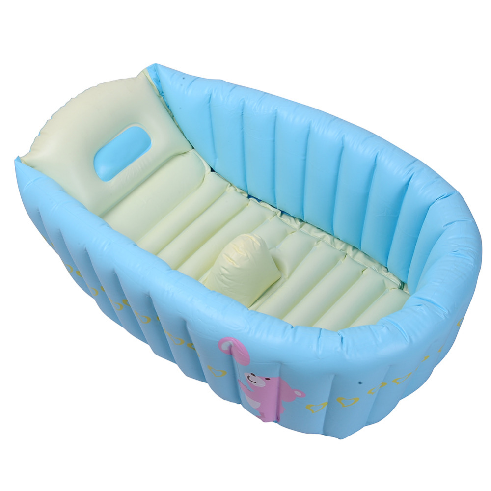 baby bath tub portable new thick inflatable portable travel compact toddler well summer. Black Bedroom Furniture Sets. Home Design Ideas