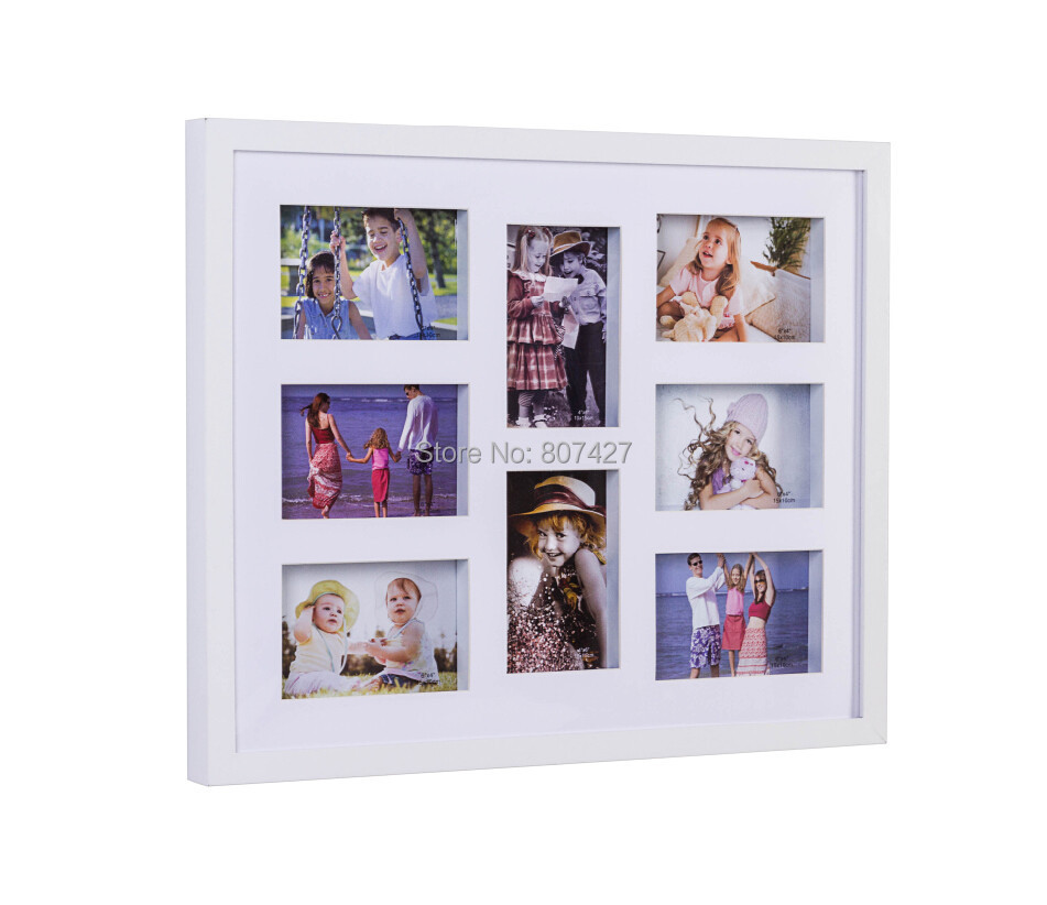 16x20 inch photo frame and 8 multi frames white color or 40x50cm wall decor family multi frames