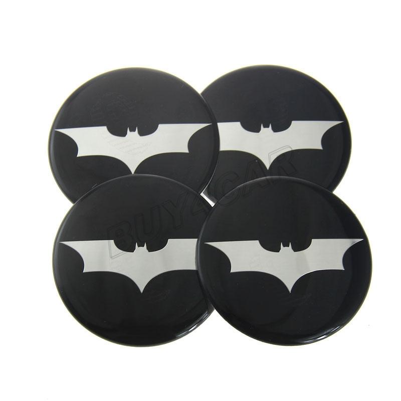 4pcs 60MM Auto Tire Wheel Center Hub Cap Logo Emblem Badge Decal Car Stickers Cover For Batman Bat The Dark Knight Bat #5241*4(China (Mainland))