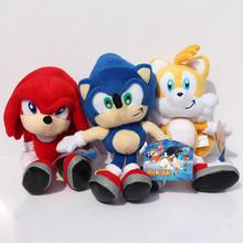 23CM Super Sonic Plush Dolls Sonic Boom Plush Toys Cartoon TV Sonic The Hedgehog Figure Doll Gift 3 colors (China (Mainland))