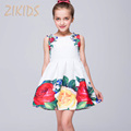 High Quality Girls Summer Dress Casual Print Flowers Dresses Baby Clothing Children Brand Kids Clothes for