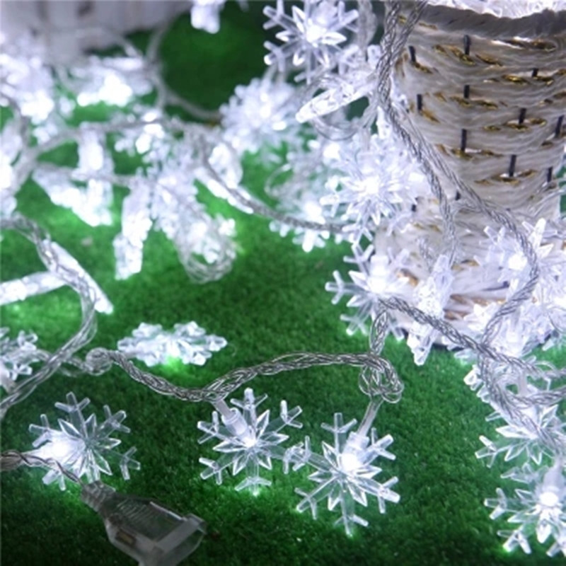Free Shipping Storefront window decoration decorative entrance the marriage room decorated modern snow LED string lights(China (Mainland))