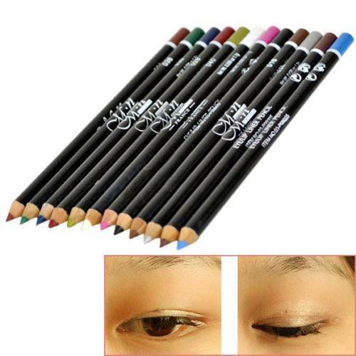 12 Colors Eye Make Eyeliner Pencil Waterproof Eyebrow Beauty Pen Liner Lip sticks Cosmetics Eyes Makeup - Trendy Jungle store