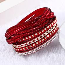 2016 New Unisex Multilayer Leather Bracelet Christmas Gift Charm Bracelets Vintage Jewelry For Women Pulsera(China (Mainland))