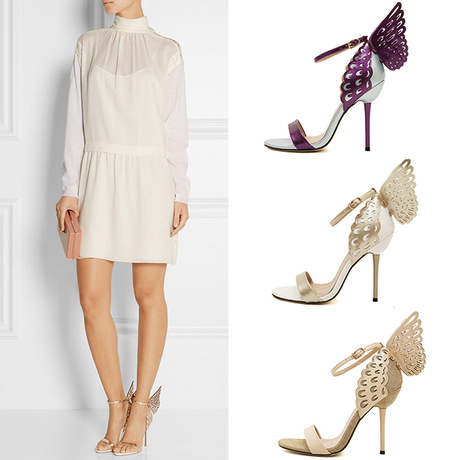 2016 Sexy Peep-toe High Heels Women Pumps Three-dimensional Fantasy Butterfly Wings Heels Sandals Sexy Wedding Shoes Party<br><br>Aliexpress