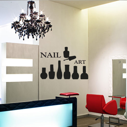Wall Decor Ideas For Spa : Salon sticker decal nail muurstickers posters vinyl wall