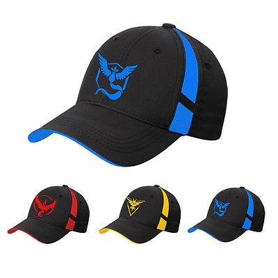 Pokemon Go Cap Hat Team Valor Team Mystic Team Instinct Pokemon Cap Pokemon baseball Cap hat(China (Mainland))