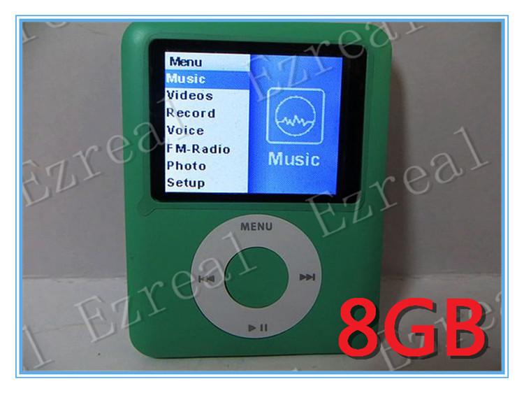 Christmas gift 250pcs/lot 3th generation mp3 mp4 player 8GB 1.8 inch 6 CLORS(China (Mainland))