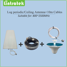 800~2500mhz Log-periodic Outdoor antenna Ceiling indoor Antenna 10m cables Accessories for 2G 3G Mobile signal Booster