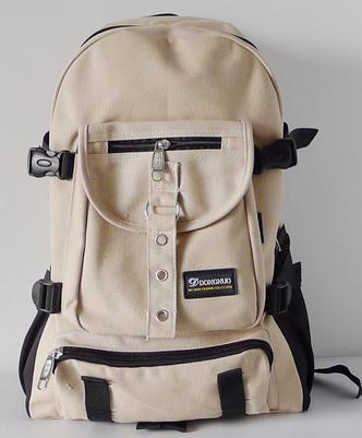 Men's backpack strap zipper backpack