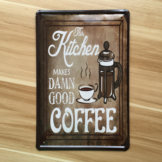 Antique Signs Wall Decor : New about quot hot coffee poster vintage home decor