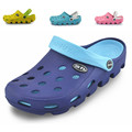 New women sandals hole slippers couple sandals mules and clogs garden shoes for women breathable beach