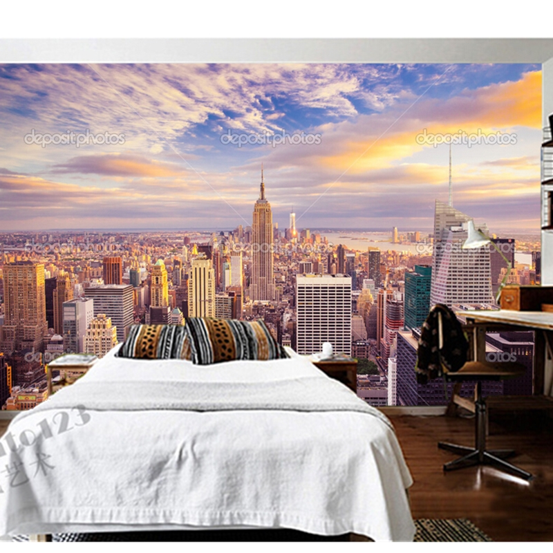 City wallpaper bedroom