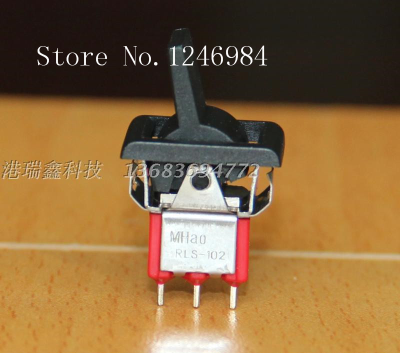 [SA]R8015-P14 -made single tripod two tranches black handle small toggle switches shake the handle switch RLS-102--100PCS/LOT<br><br>Aliexpress