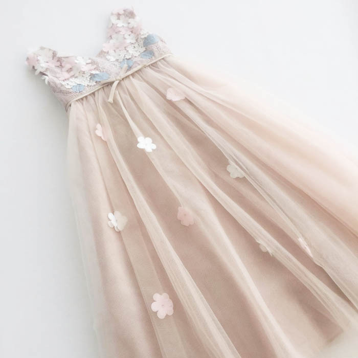 Гаджет  brand 2015 Princess Girls print lace Dresses for party and wedding 3D Flower tulle girl dress high street None Детские товары
