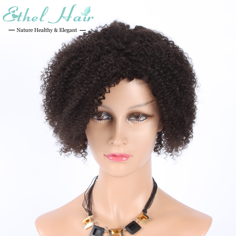 Mongolian Afro Kinky Curly Full Lace Wigs 100% Virgin Hair Full Lace Human Hair Wigs For Black Women Kinky Curly Lace Wigs Stock(China (Mainland))