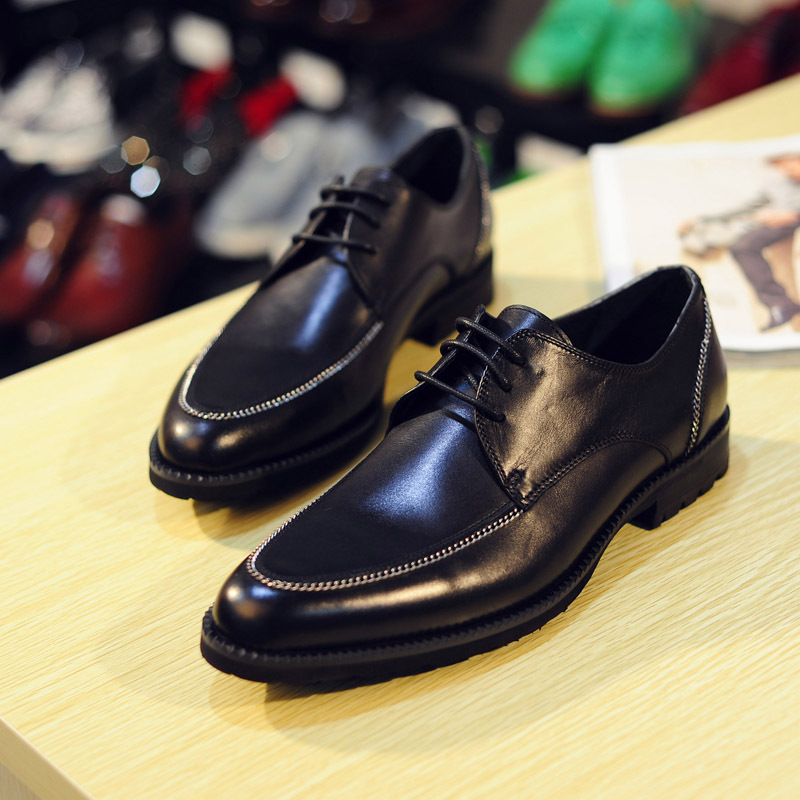 2015 new leather business casual shoes British dress shoes breathable shoes fashion pointed white leather shoes<br><br>Aliexpress