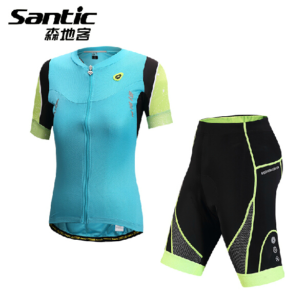 Brand Santic Women Pro summer Cycling Jersey Set Short Sleeve MTB Road Bike Bicycle Jersey Cycling Clothing Suit Ropa Ciclismo