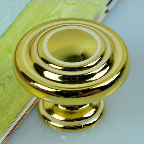 Modern Fashion Kichen cabinet handles gold drawer knobs gold white  zinc alloy dresser cuoboard furniture handles pulls knobs