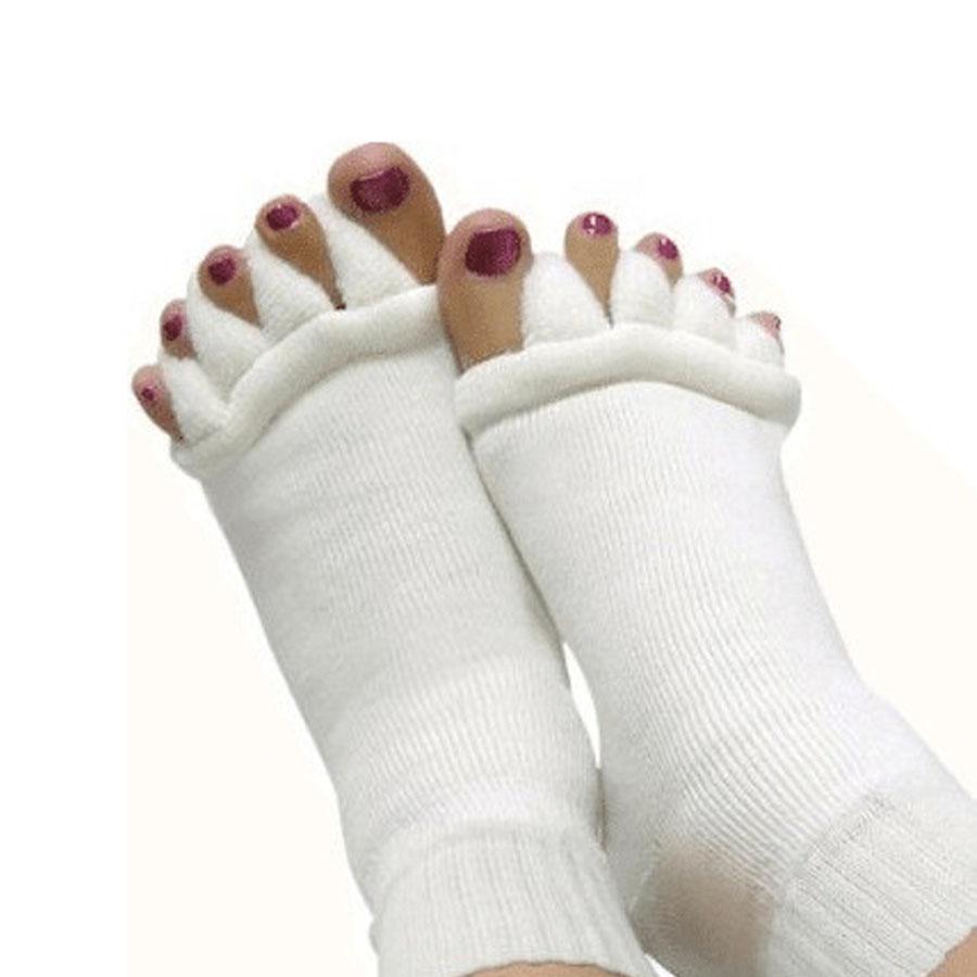 1Pair Yoga Massage Toe Separator Sock Bunion Hallux Valgus Protector Straightener Foot Care Tool Overlapping Toe Orthopedic C590