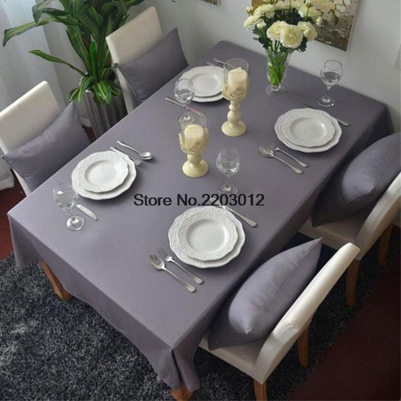 Hot sale 100% cotton rectangular tablecloths Modern style super quality table cloth for weddings hotel kitchen table(China (Mainland))