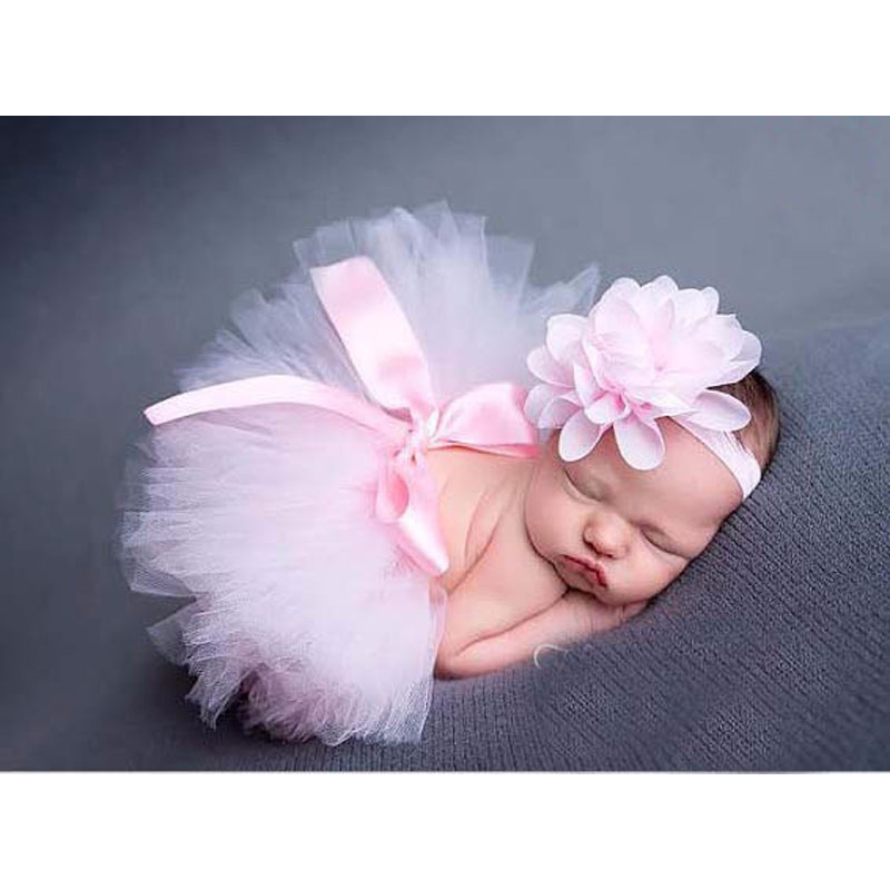 10 Colors Baby Girl Tulle Tutu Skirt Newborn Photography Props Bowknot Baby Tutu Skirt Birthday ...