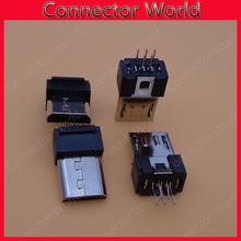 Buy Free 50pcs/lot MINI Micro USB B type Male jack 5p 5 pin connector 5pin socket port charging port plug dock 5-pin for $8.45 in AliExpress store
