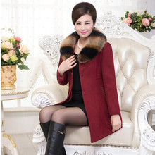 XL-5XL, Plus size winter wool women coat 2015 high quality fur wool coats single breasted long woolen jacket  female Q413(China (Mainland))