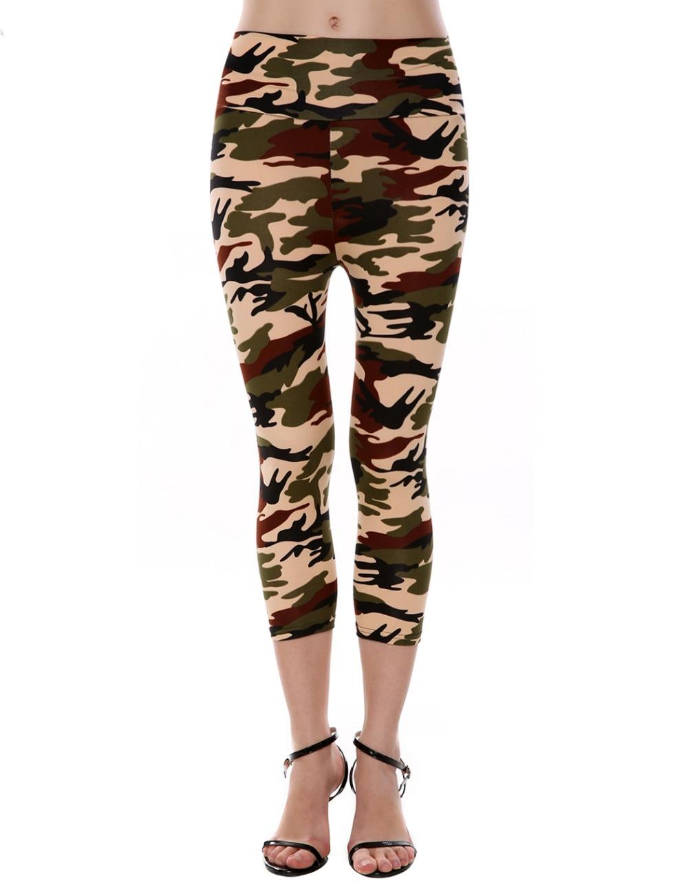 2016 Women Sexy Sport Camouflage Leggings Stretchy Slim Army Camo Leggings Female Fitness ...