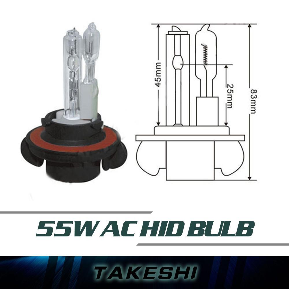 2pcs AC 12v hid xenon Dual Beam H13-2 bulb all Colour 3000K~30000K Blue/Purple/Pink/green Car Headlight Light Lamps Single Beam(China (Mainland))