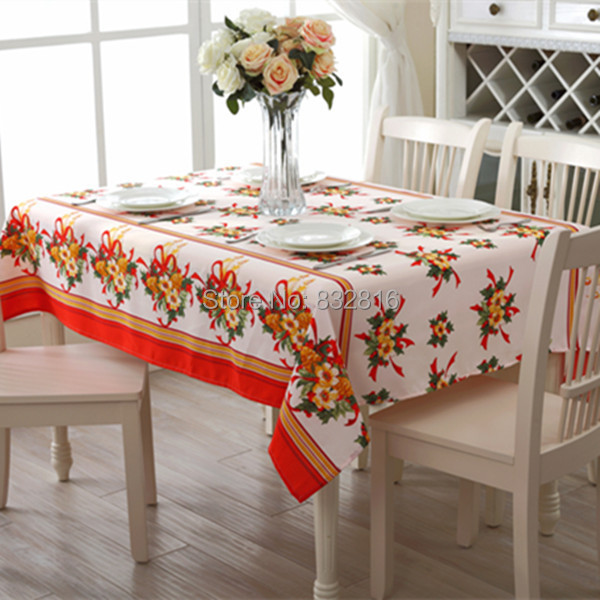 Wholesale Christmas Printed Rectangular Table Covers Home Xmas Dining Table Cloth Outdoor Tablecloths 140x180CM(China (Mainland))