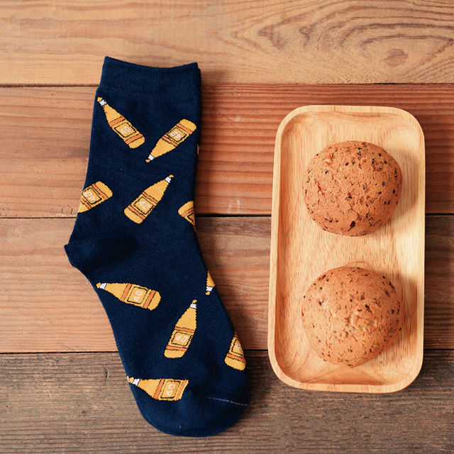 Caramella новинка фруктовый сок мультфильма женщин и мужчин апельсиновый сок трубки носок смешные чистого хлопка носки для любителей