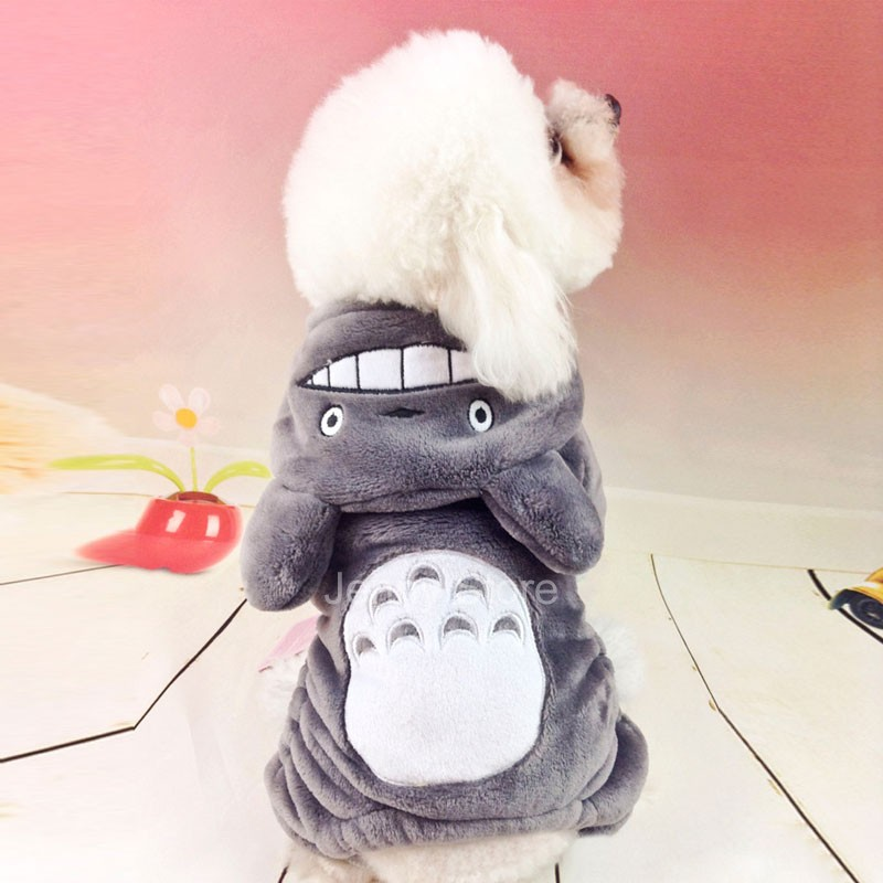 Clothes Cartoon Totoro Hoodie Coat Four Leg Jumpsuit Clothing for Small Pets(China (Mainland))