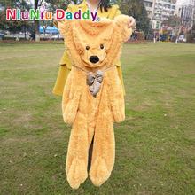 "Niuniu Daddy ,100cm/39.5"" inch,Plush Bear Skin,Semi-finished Teddy bear, bearskin Plush Toys, Hug the ,Free shipping(China (Mainland))"