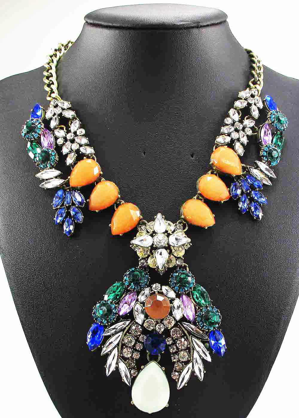 Newest Gorgeous Fashion Necklace owl Jewelry crystal ra Department Statement Necklace Women Choker Necklaces Pendants(China (Mainland))