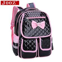 New lovely Children School Bags for girls backpack Students leather Kids Book Bag butterfly Knot Backpacks for Teenage Girls(China (Mainland))