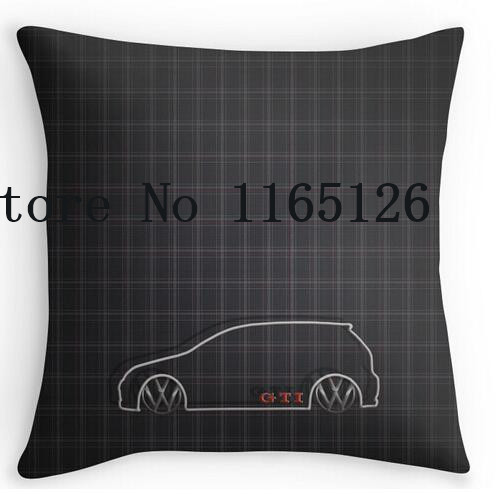 Two sides printing GTI font b Tartan b font Pillow Cases for12 14 16 18 20