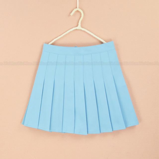 Летняя мода высокая талия Плюс размер XS-4XL плиссированные юбки Сплошной Цвет линии моряк юбка для девочек