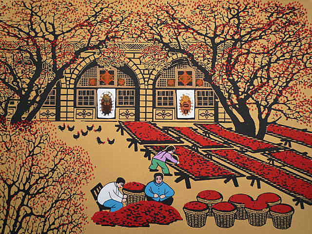 Yanan China  City pictures : , dried red dates. China Shaanxi Yanan cave. Jujube forest. China ...