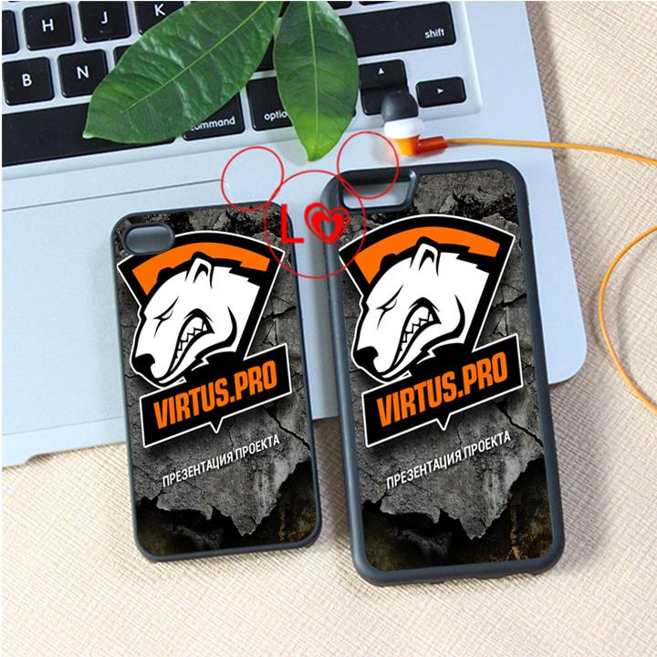 virtus pro logo 3 fashion cover case for iphone 4 4s 5 5s 5c SE 6 6s 6Plus & 6S plus #A4080(China (Mainland))