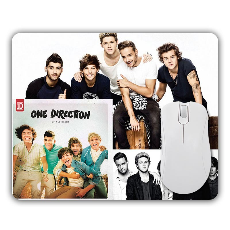 Cool One Direction Desktop Pads Comfort Rubber Mousepad Optical Mouse Mats for Computers Mice Pad Durable Gamer Speed Mats(China (Mainland))