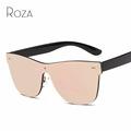 ROZA Women s Sunglasses Conjoined Lens Brand Design Rimless Plastic Temple Sun Glasses Oculos De Sol