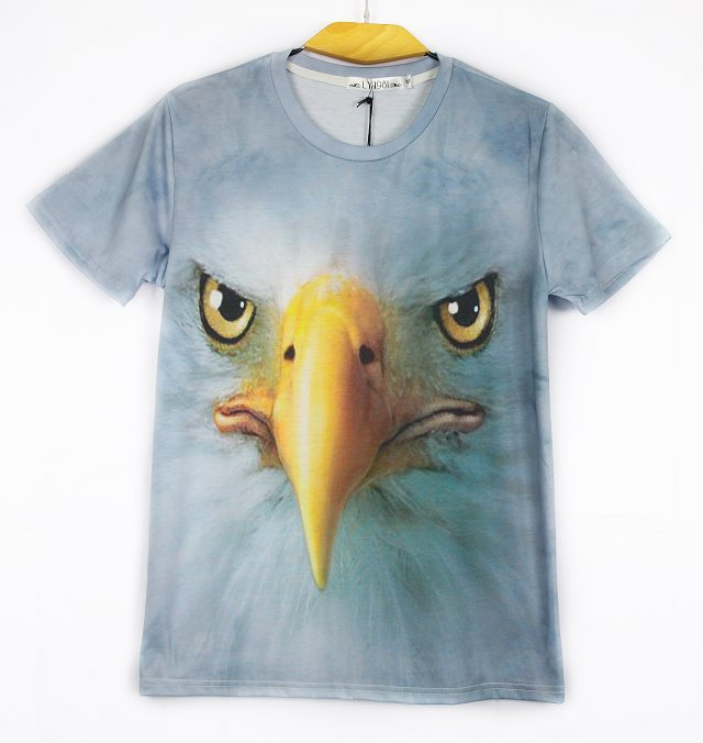 The new spring and summer 2015 3 d print carving pointed for Wildlife t shirts wholesale
